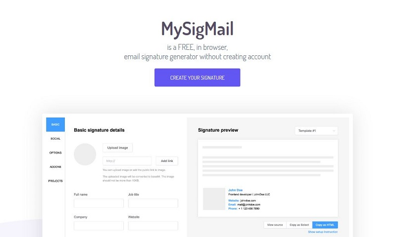 mysigmail.com email generator