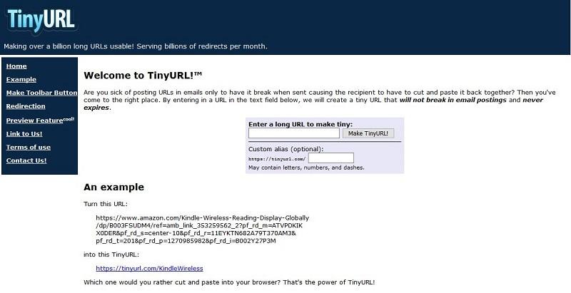 Accueil TinyURL