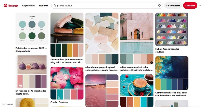 Palette couleur sur Pinterest