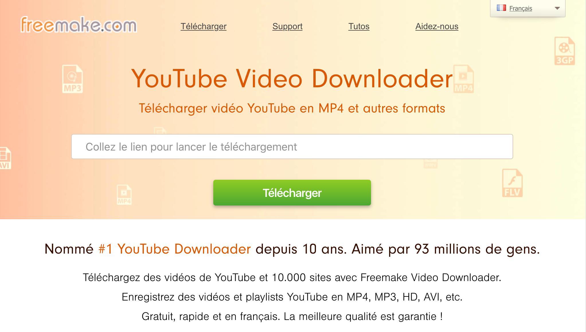 Freemake.com - téléchargement de vidéos YouTube